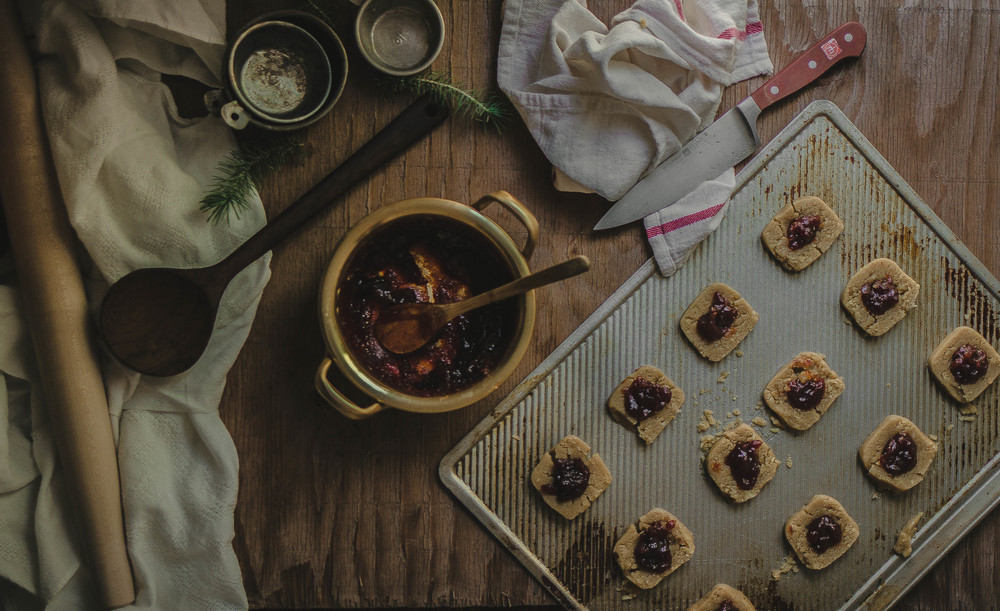 Macadamia and Quince paste thumbprint cookies | by fit for the soul