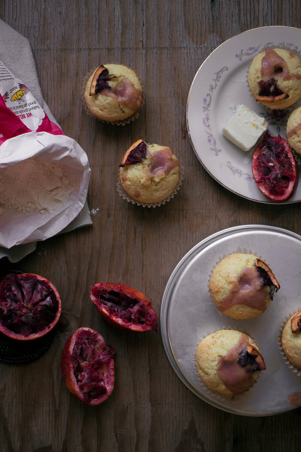 citrus muffins and how to make blood orange curd | by fit for the soul