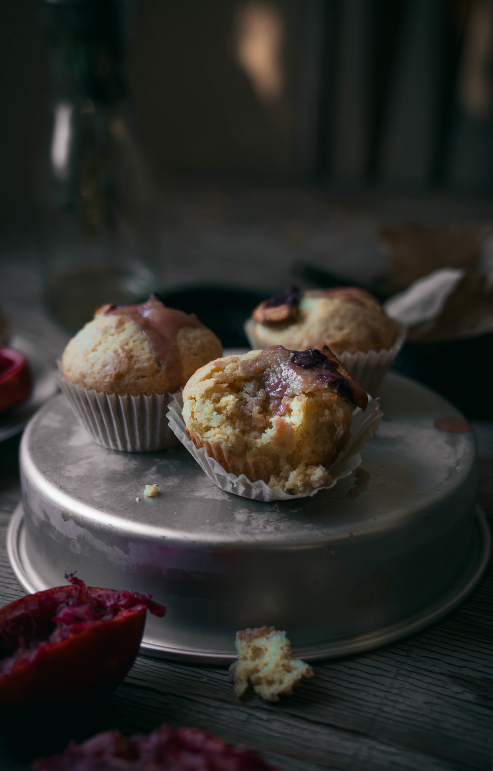 Citrus muffins with blood orange curd | by fit for the soul