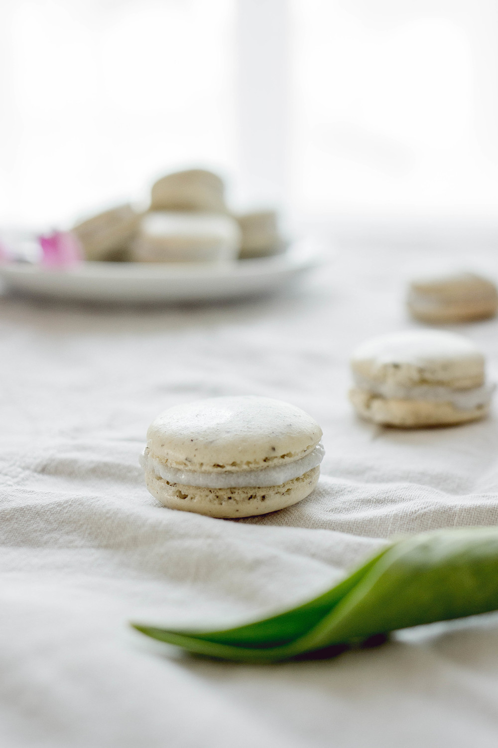 chai tea with coconut filling macarons recipe with Uncommon Goods | by fit for the soul