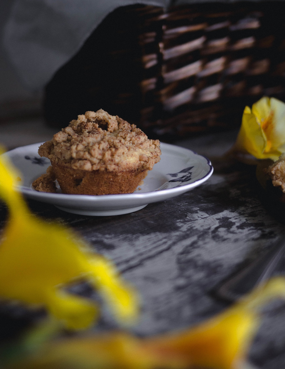 Super moist sour cream and peanut streusel muffins, foolproof | from scratch, mostly