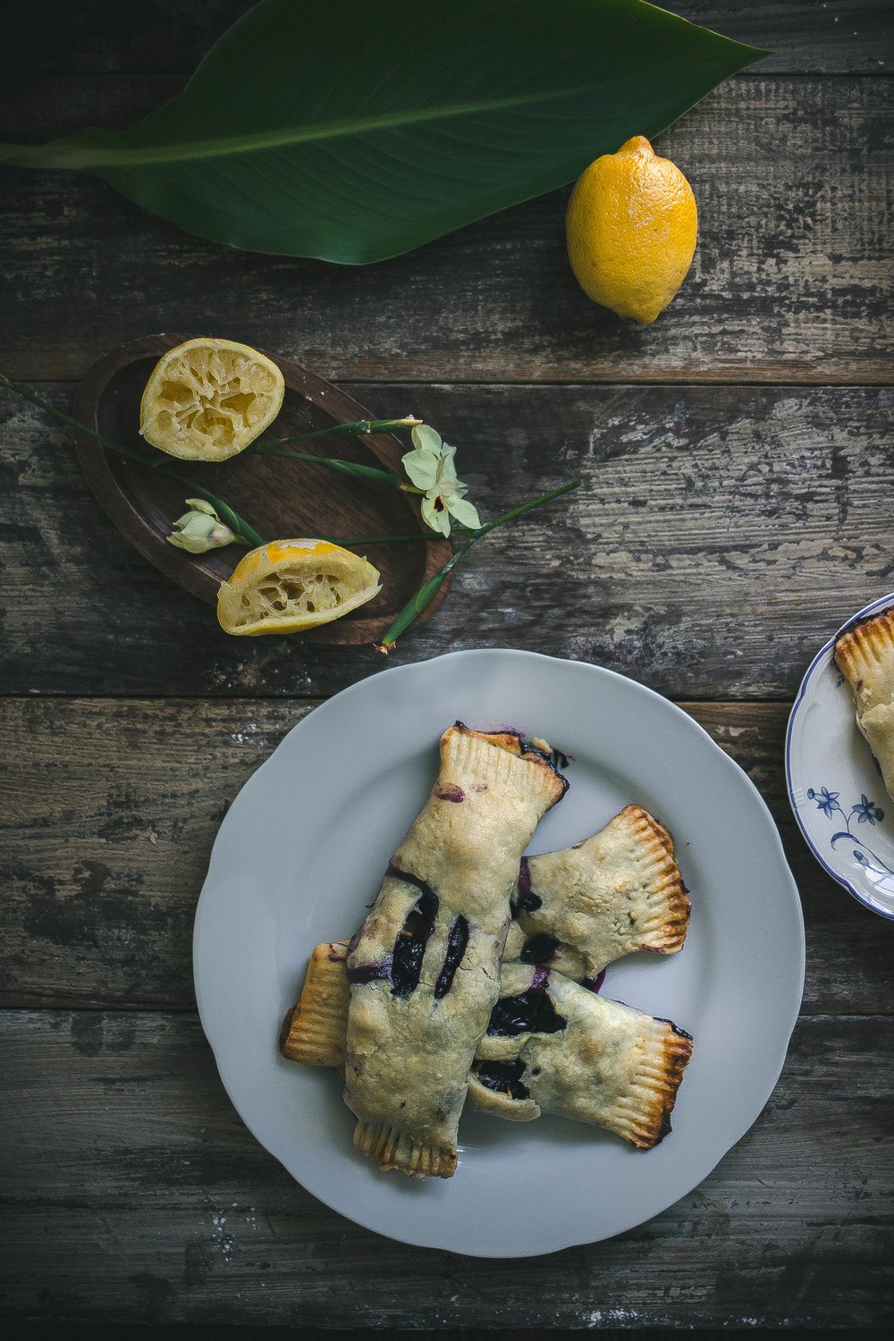 Blueberry cheddar handpies with a flaky and tender crust | from scratch, mostly