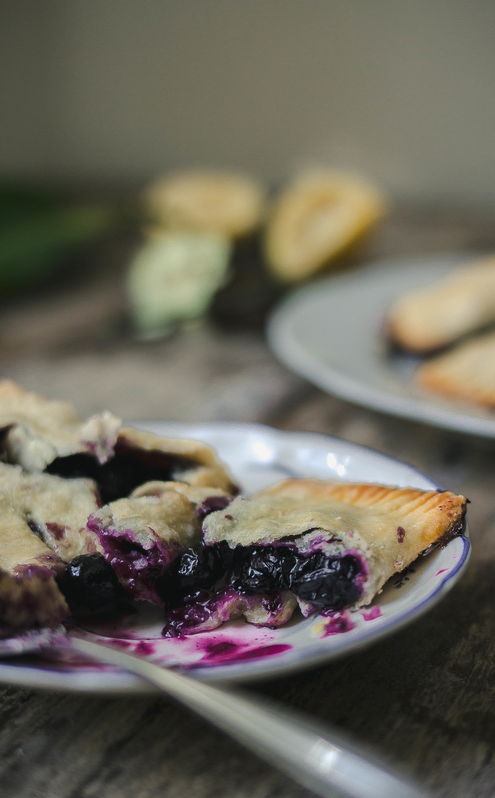 Blueberry cheddar handpies with a flaky and tender sourcream crust | from scratch, mostly