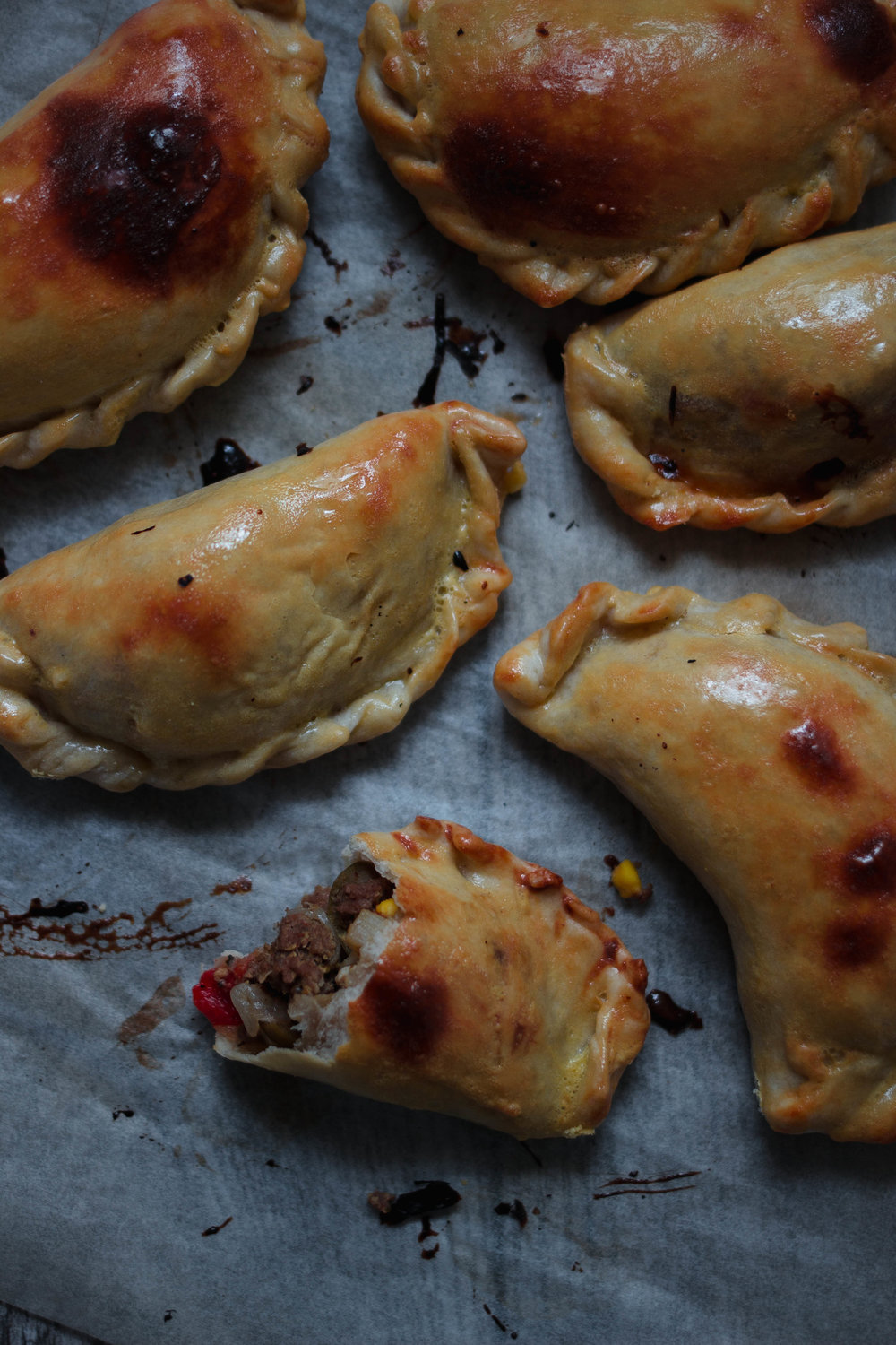 Recipe for Argentinean beef empanadas with homemade empanada dough/shells | from scratch, mostly