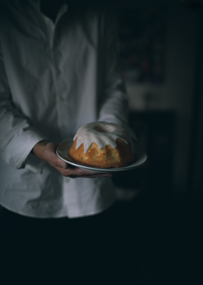 Lemon glazed cake in the shadows | from scratch, mostly blog