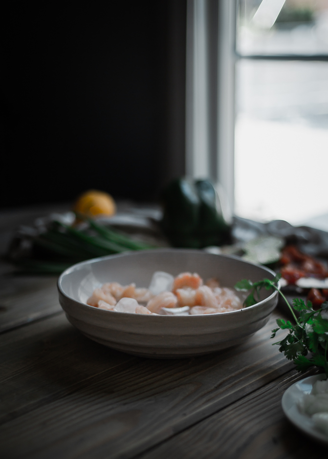 Shrimp ceviche with nectarine recipe | from scratch, mostly blog