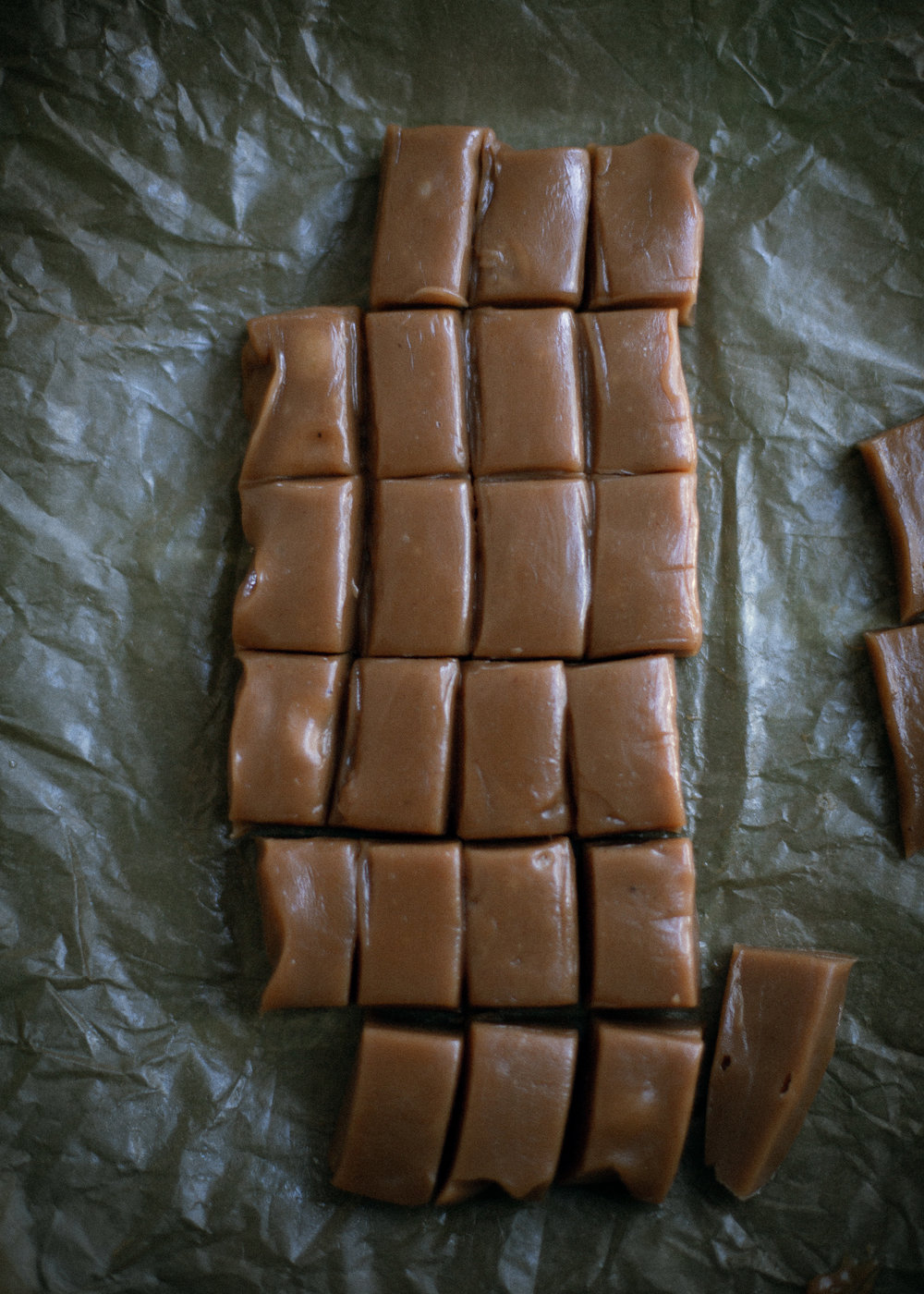 The softest homemade caramel candies, orange flavored with McCormick extract | from scratch mostly, blog