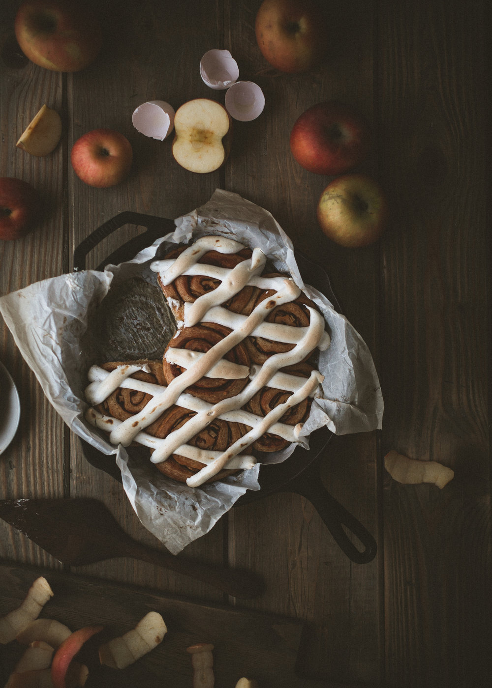 The fluffiest apple cinnamon rolls with toasted meringue | from scratch, mostly blog