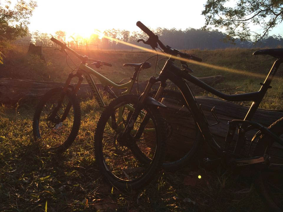 Bikes and sunset