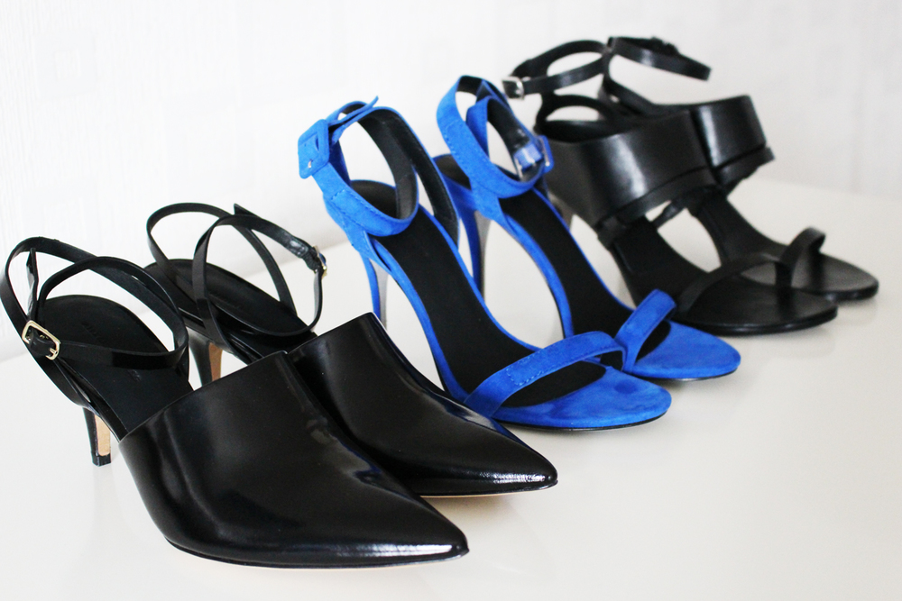 Alexander Wang - Inga Midheel Pumps, Antonia Sandal in Royal and Adina Midheel Banded Sandal.