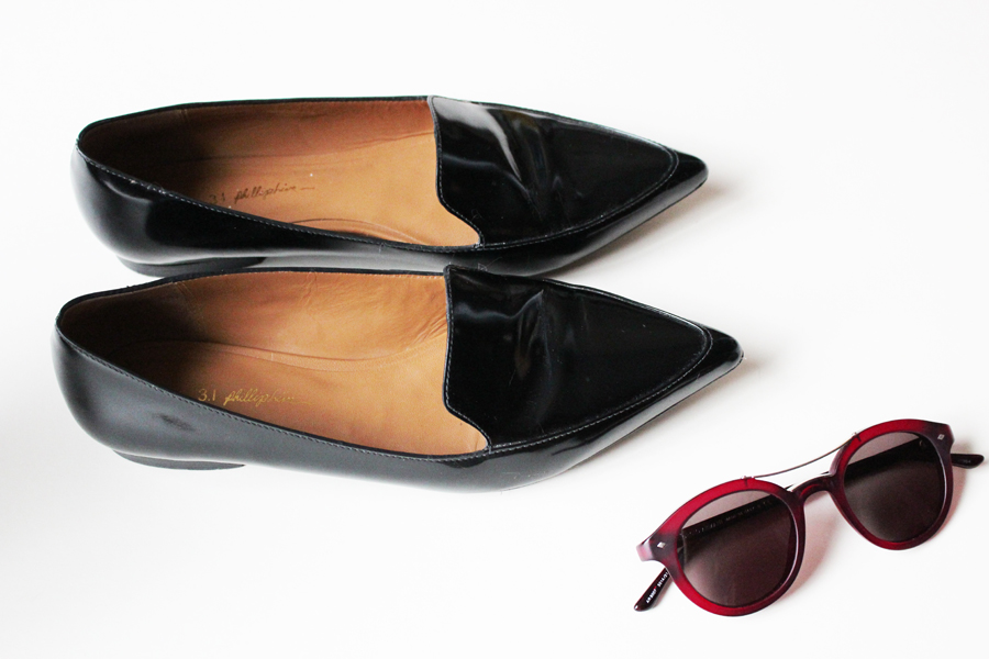 WoahStyle.com | 3.1 Phillip Lim Page Loafers & Giorgio Armani sunglasses