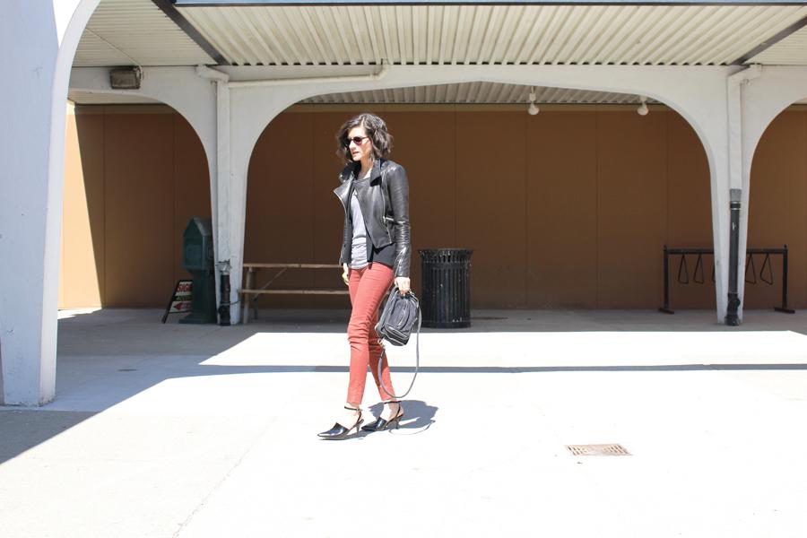 WoahStyle.com | Alexander Wang shoes & bag, Jbrand jeans, Mackage jacket, Urban Outfitters Tshirt