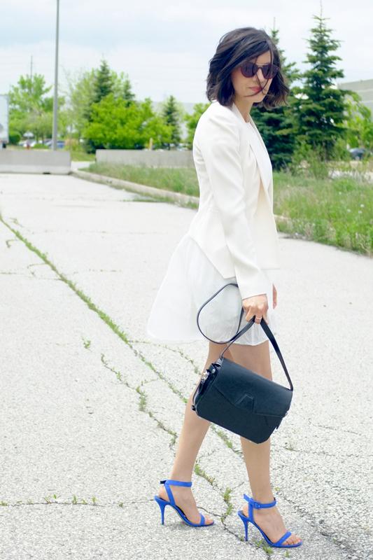 WoahStyle.com | Aritzia & Alexander Wang, white dress, street style