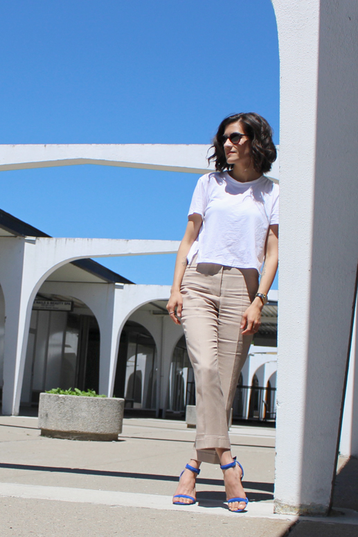 WoahStyle.com | Neutral style in Stella McCartney and a white tshirt