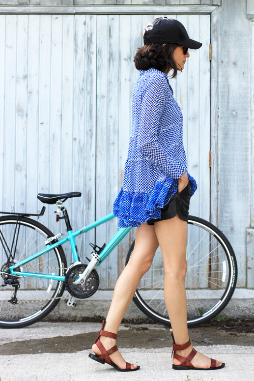 WoahStyle.com | Cycle Style in leather shorts & Alexander Wang
