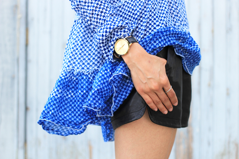 WoahStyle.com | street style Mackage leather shorts & Alexander Wang