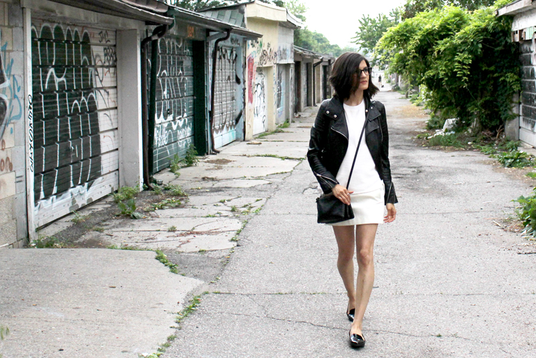 WoahStyle.com | White & Black in Acne, 3.1 Phillip Lim and Mackage street style