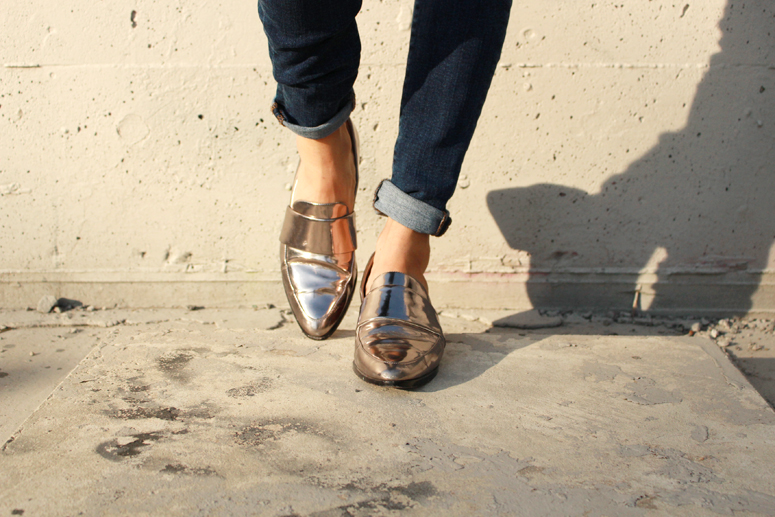 WoahStyle.com | 3.1 Phillip Lim silver Quinn loafers #StreetStyle