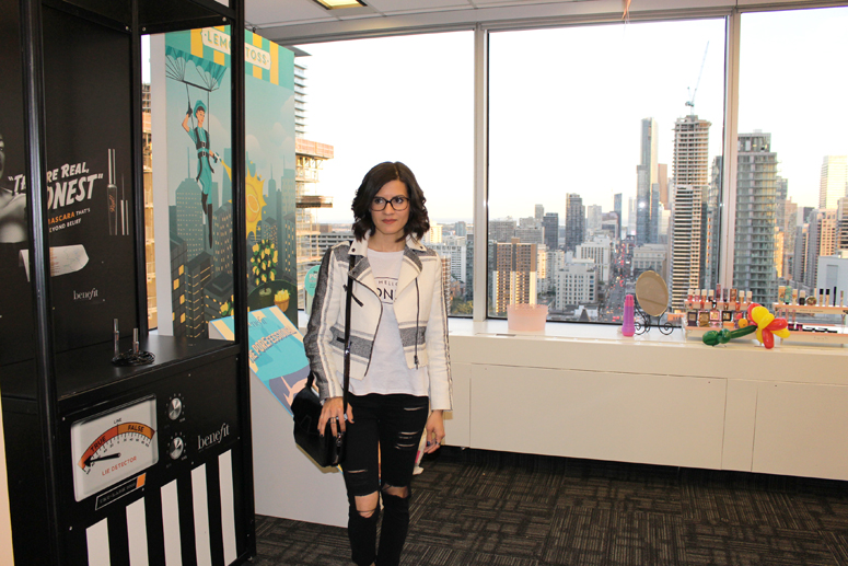 WoahStyle.com | Benefit Canada HQ wearing The Free Island, Club Monaco and Alexander Wang
