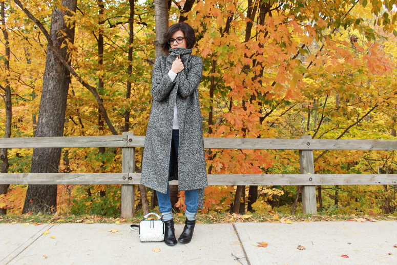WoahStyle.com | Aritzia coat, Acne knit, Joe Fresh denim and Alexander Wang boots #streetstyle