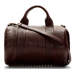 Alexander Wang Purple Leather Studded Rocco Duffle Bag