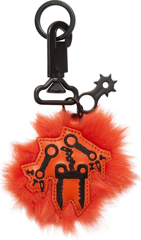 WoahStyle.com | Kenzo Orange Pendant Keychain