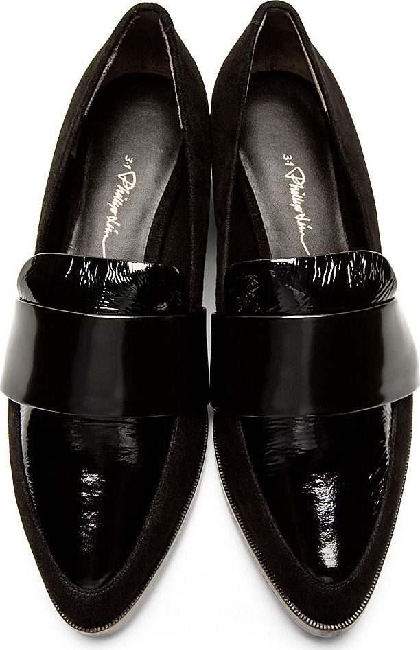 WoahStyle.com | 3.1 Phillip Lim Black Suede & Patent Leather Quinn Loafers