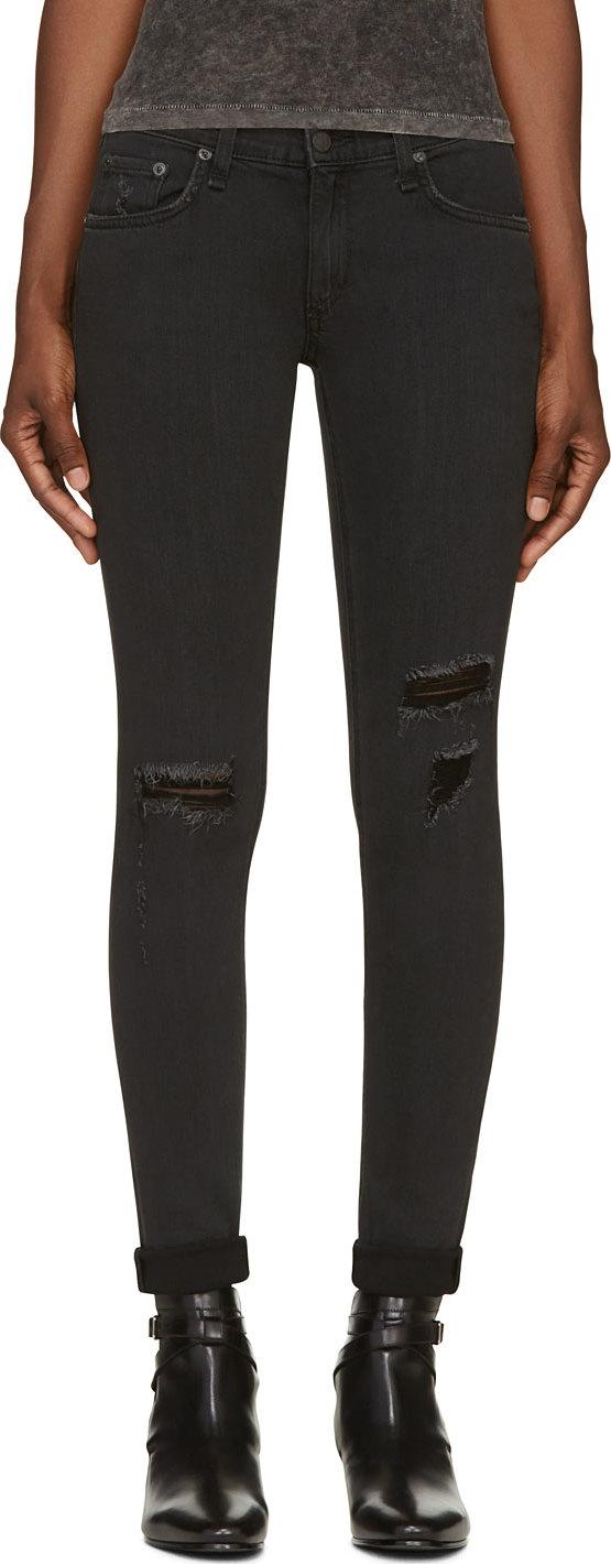 WoahStyle.com | Rag & Bone Black Destroyed The Skinny Jean