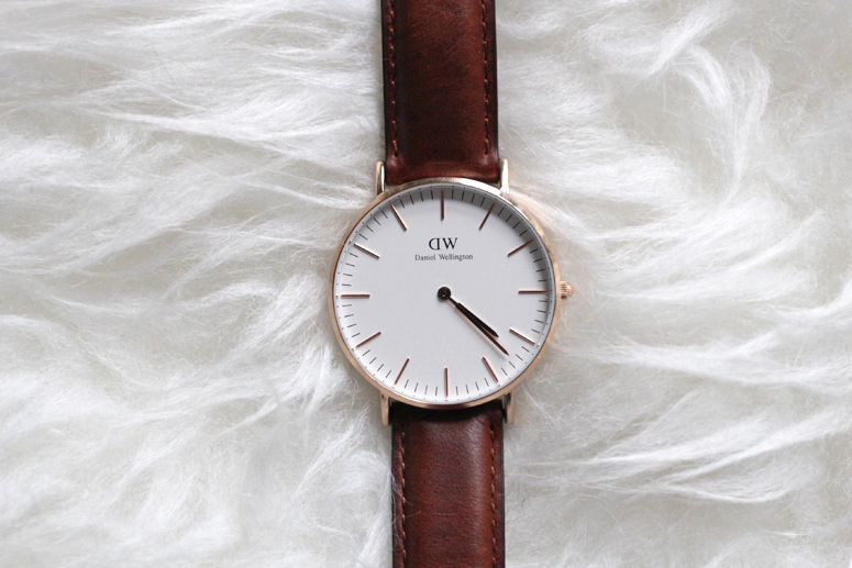 WoahStyle.com | Daniel Wellington Classic St. Andrews Lady watch in Rose Gold, luggage coloured leather band