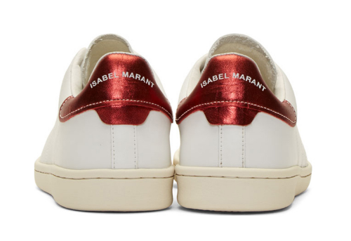 WoahStyle.com - Isabel Marant White Leather Bart Sneakers