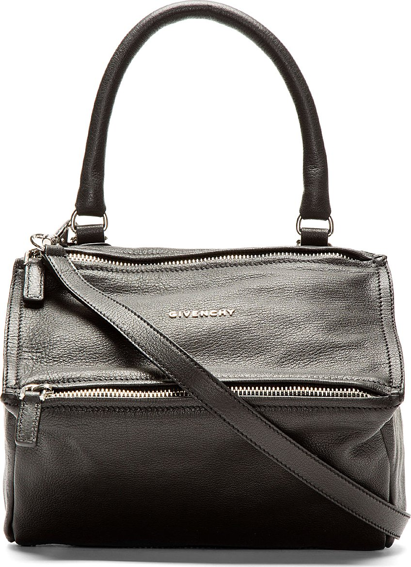 Givenchy Black Leather Pandora Sugar Small Shoulder Bag