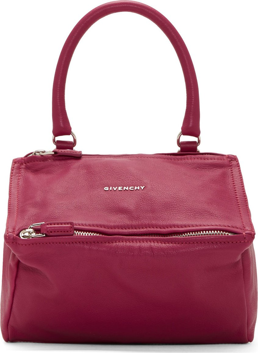 36a8116fbb91a Givenchy Magenta Sugar Leather Pandora Small Bag