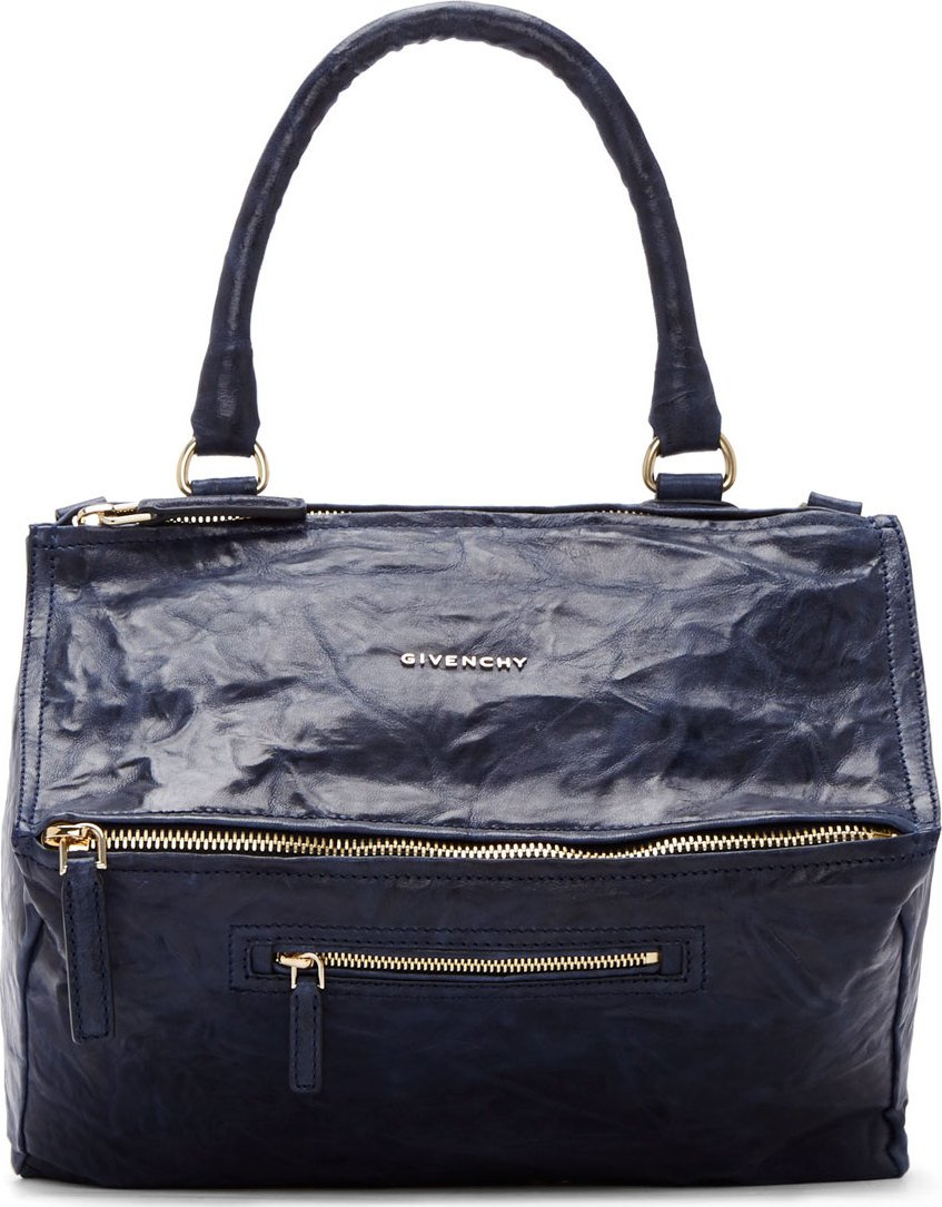 bb156dd8e17ab Givenchy Midnight Blue Pepe Leather Pandora Medium Bag