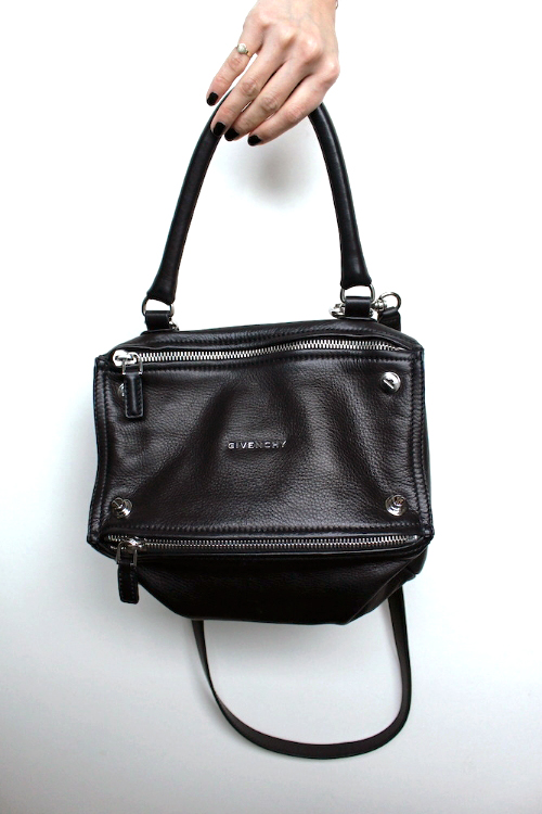 WoahStyle.com | Givenchy Small Black Leather Pandora Bag