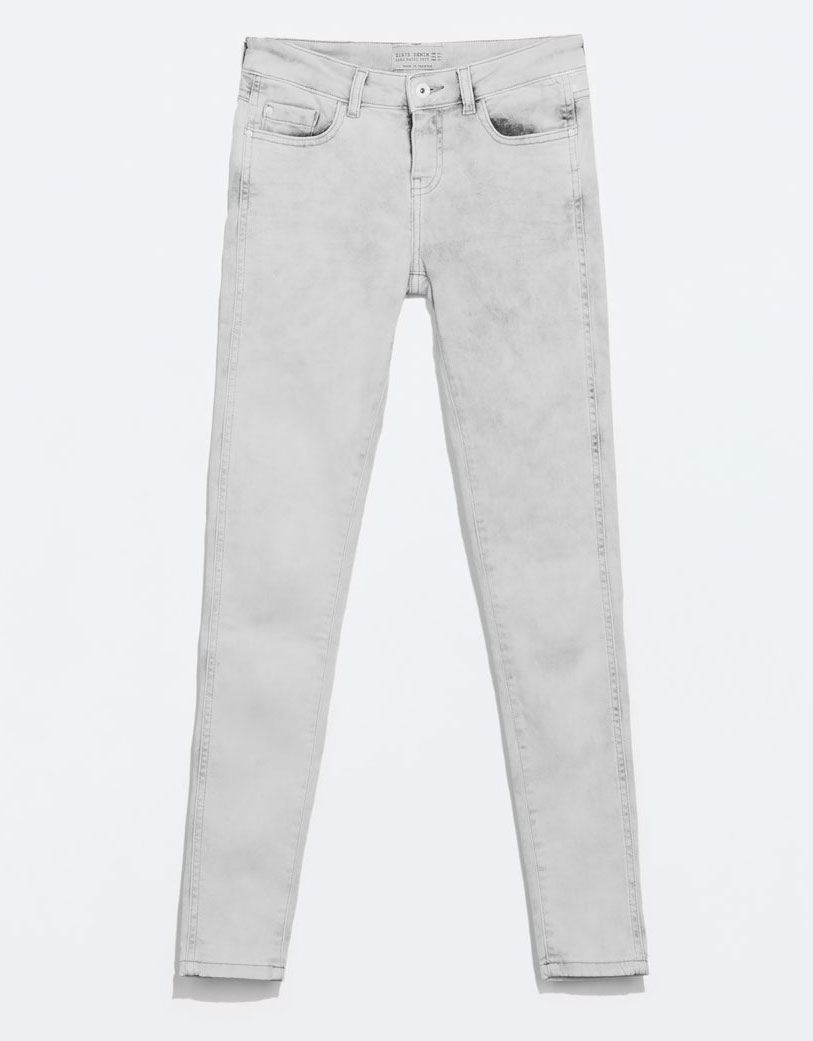 WoahStyle.com | Zara pale grey washed jeans