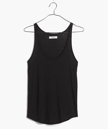 WoahStyle.com | Madewell Perfect Layering basic black tank