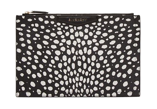 WoahStyle.com | Givenchy Black Dot Print Antigona Medium Zip Pouch