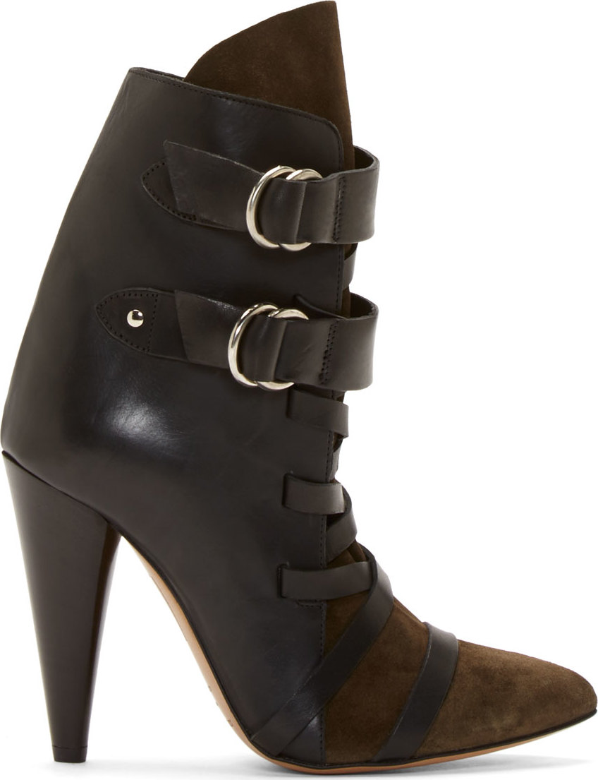 WoahStyle.com | sabel Marant Black Leather & Suede Royston Heel Boots