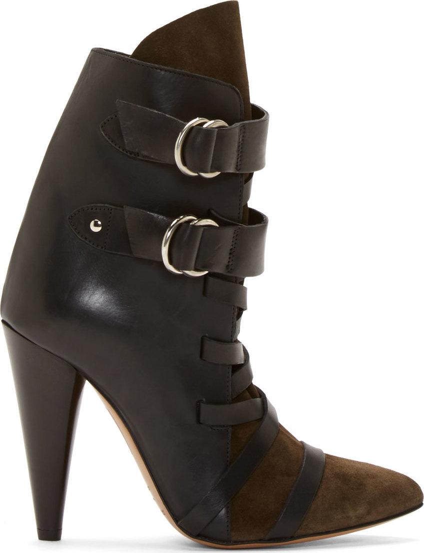 WoahStyle.com | sabel Marant Black Leather & Suede Royston Heel Boots
