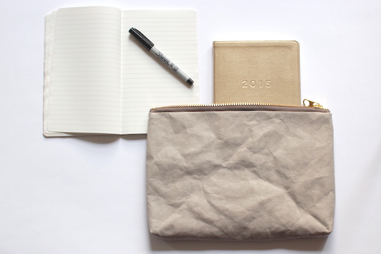 WoahStyle.com | December Favourites - gold leather 2015 agenda, Ogami notebook and Hoi Bo large washable paper pouch