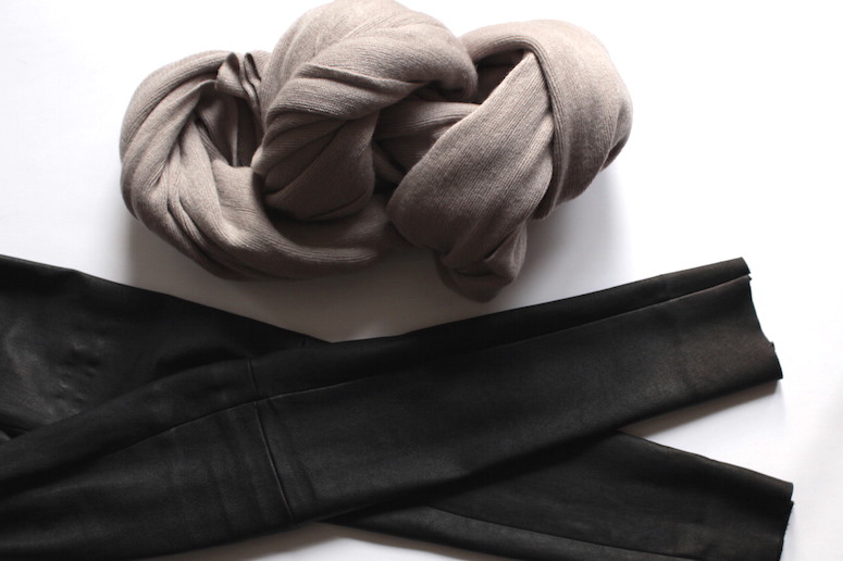 WoahStyle.com | December Favourites - Oak + Fort scarf and Mackage leather leggings