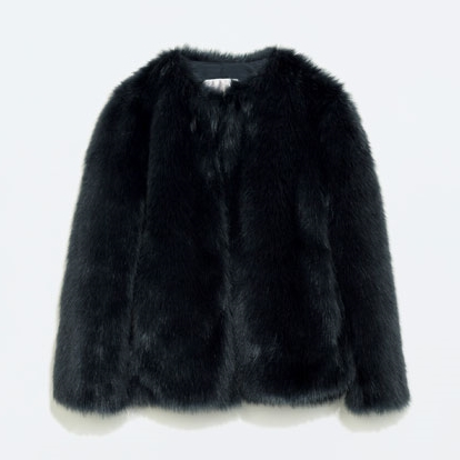 Zara blue Faux Fur