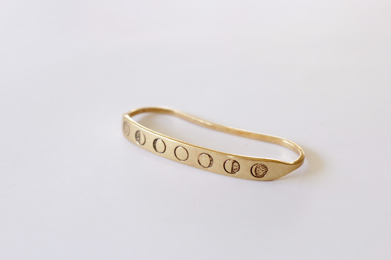 WoahStyle.com | Jenny Bird brass handpick with the lunar phases.