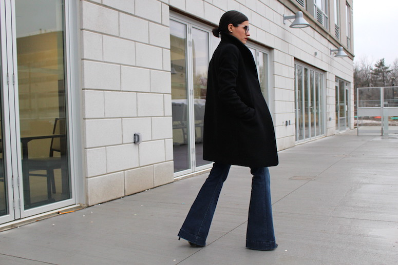 WoahStyle.com | Denim Flares, Slicked back hair and red lips - forecasting 2015 trends #streetstyle