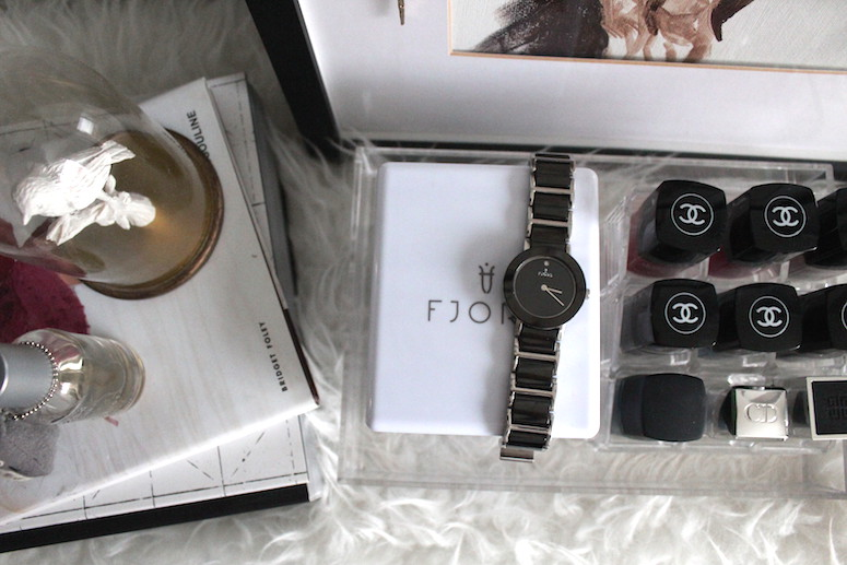 WoahStylecom | Fjord black ceramic and steele watch