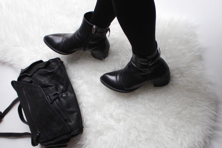 WoahStyle.com | Alexander Wang boots & Helmut Lang bag