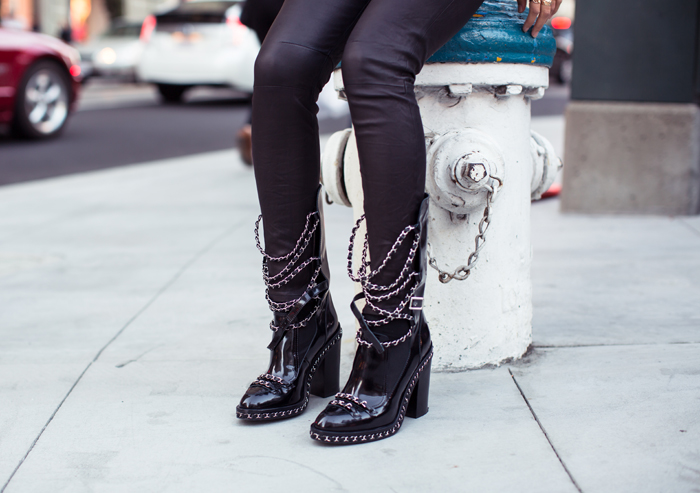 Song Of Style Chanel Chain Boots