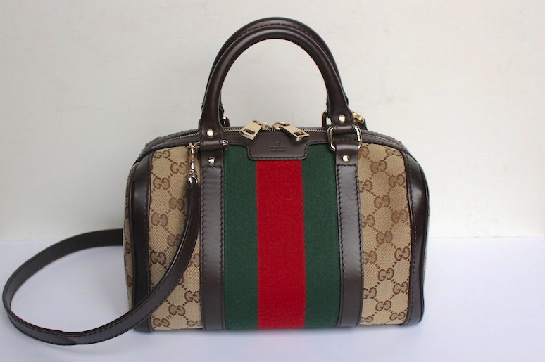 WoahStyle.com | Gucci Boston heritage stripes bag