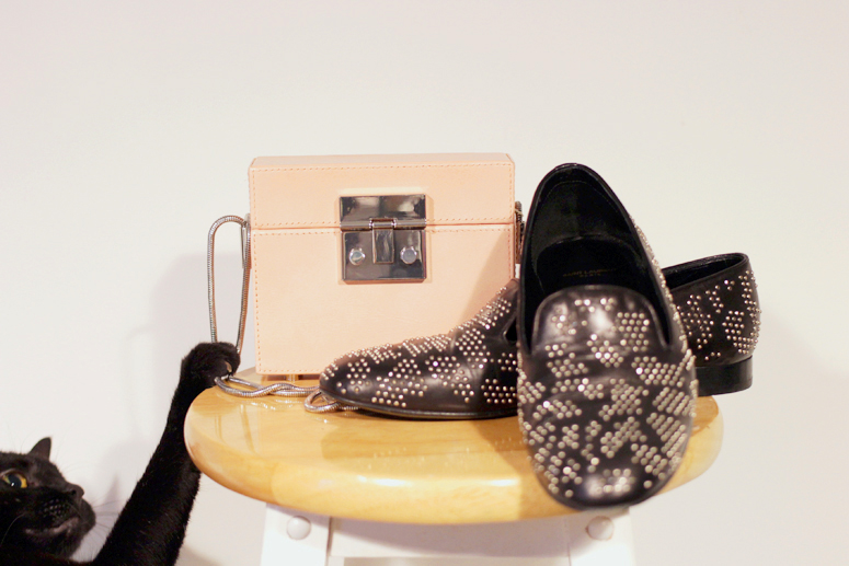 WoahStyle.com | Zara pink box bag and Saint Laurent Paris loafers
