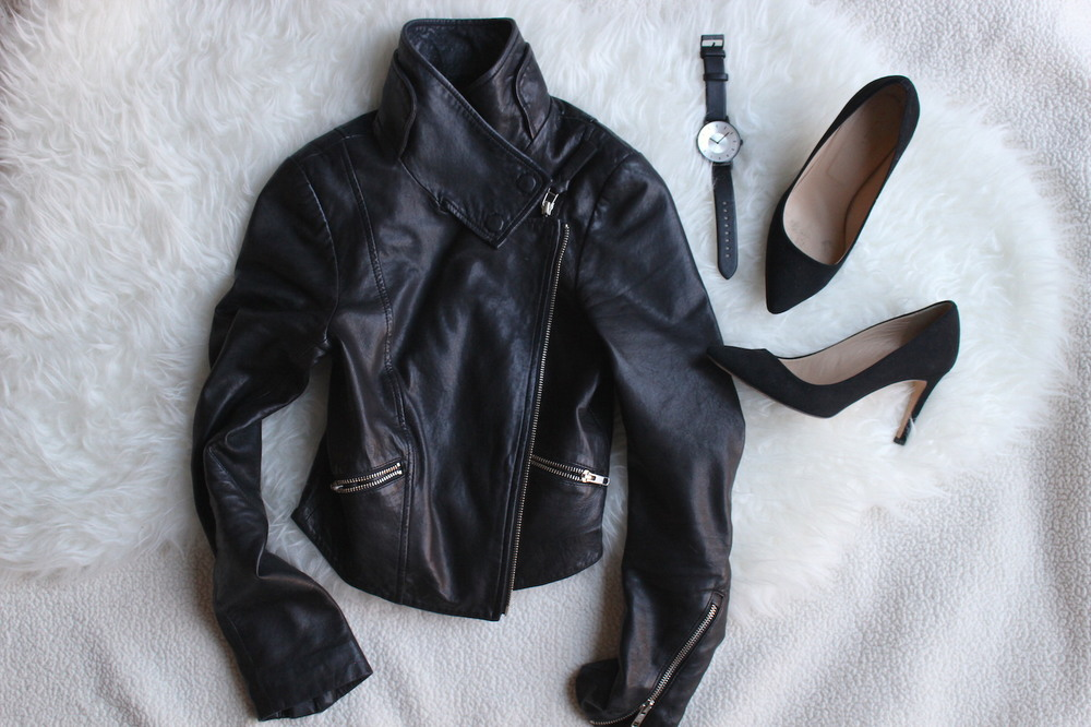 WoahStyle.com | Black accessories and Mackage moto leather jacket